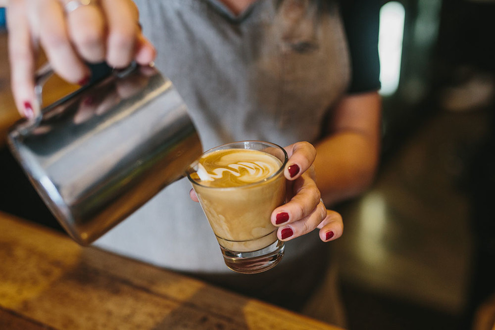 Black Squirrel Cafe Zest Specialty Coffee Latte Art