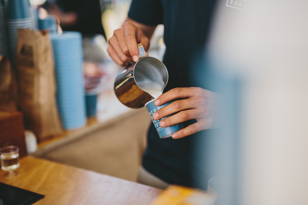 Zest Specialty Coffee Pouring
