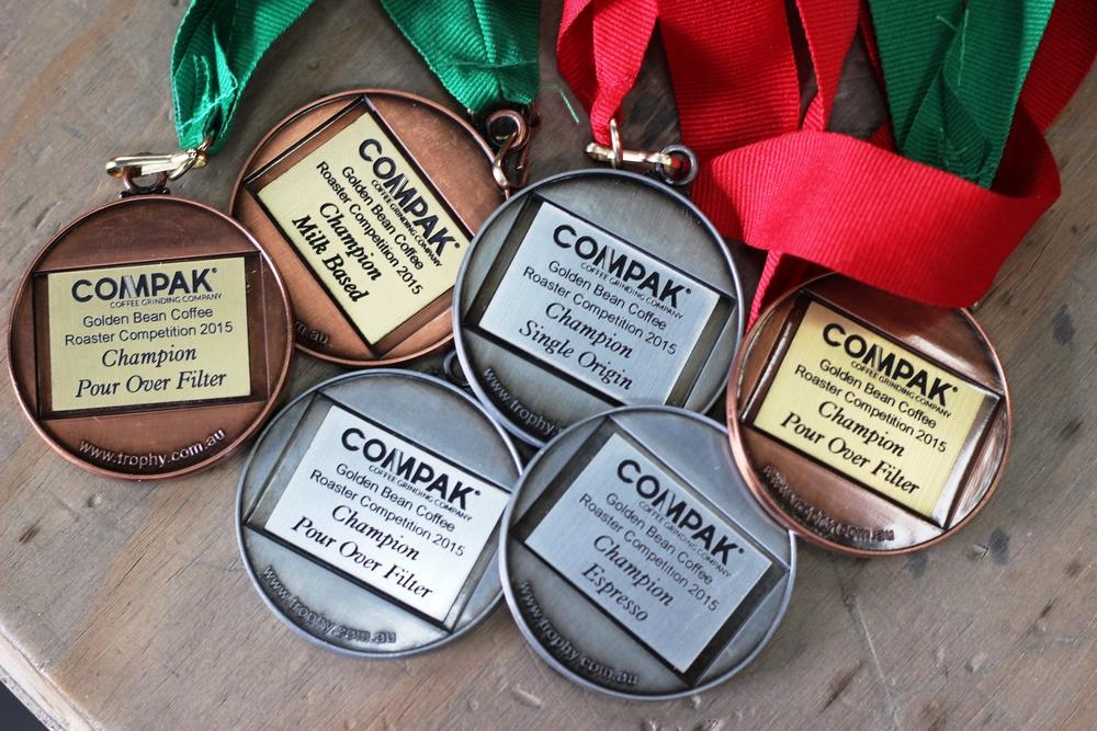 Zest's Golden Bean Medals