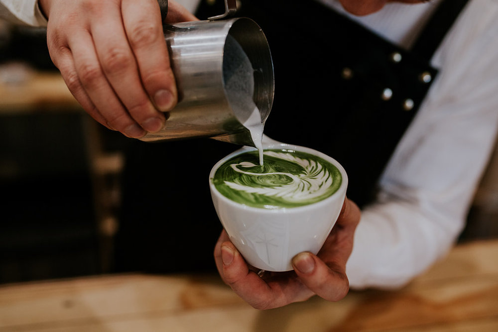 White MOJO Zest Specialty Coffee Matcha