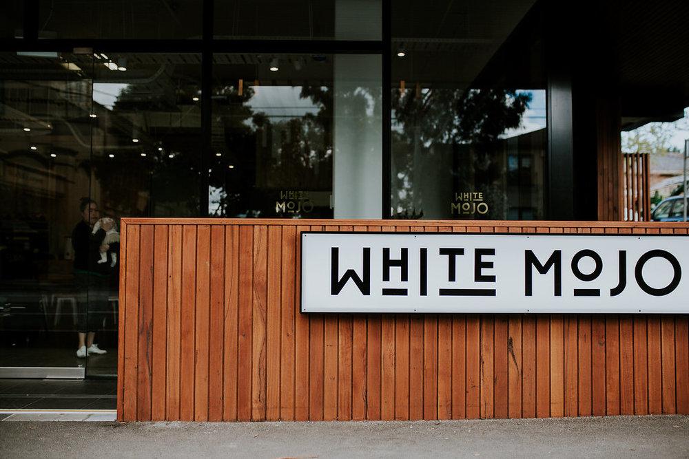 White MOJO Cafe Exterior