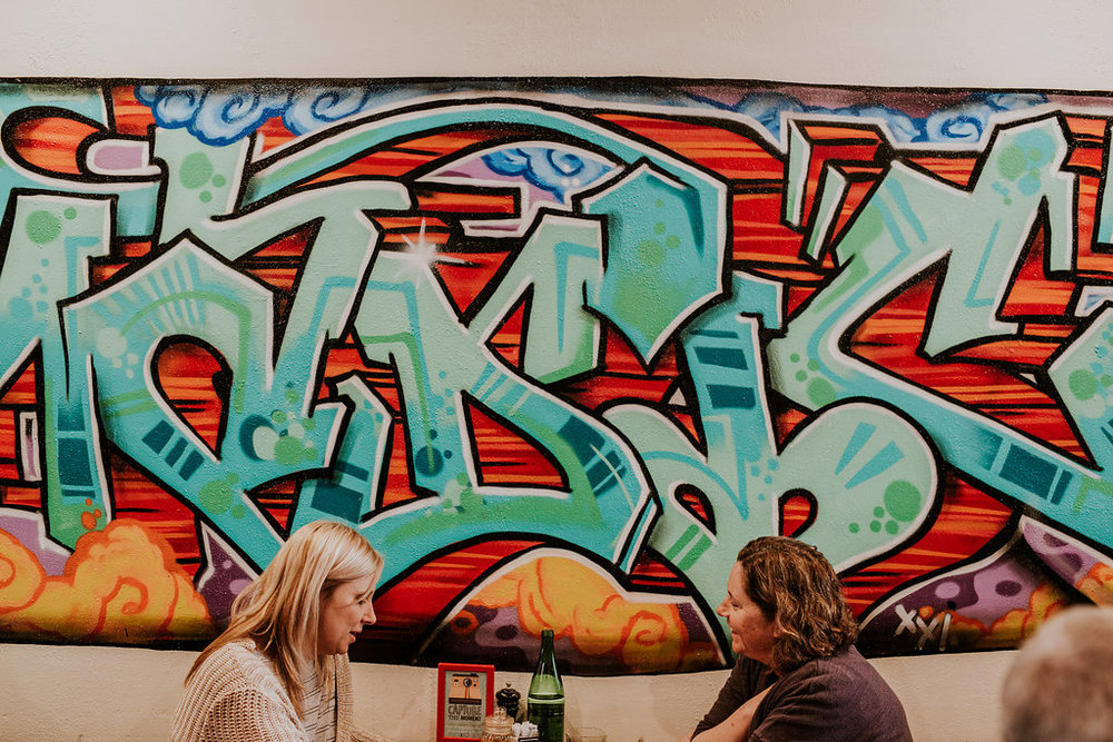 Nomadic Cafe Graffiti Wall
