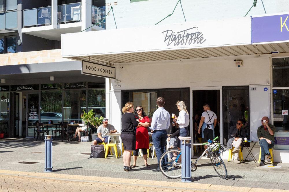 Duo Tone Cafe Exterior