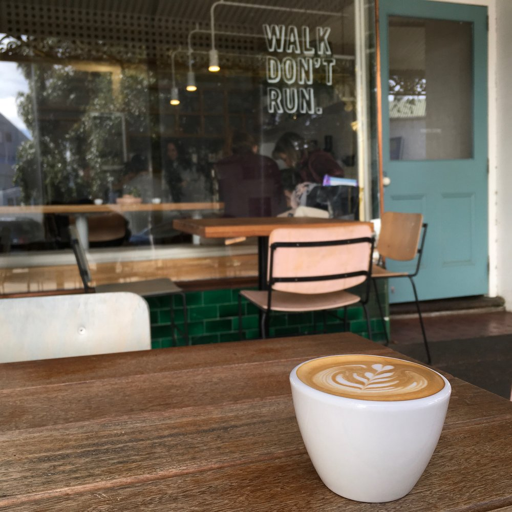 Walk Don't Run Zest Specialty Coffee Melbourne - Latte Art