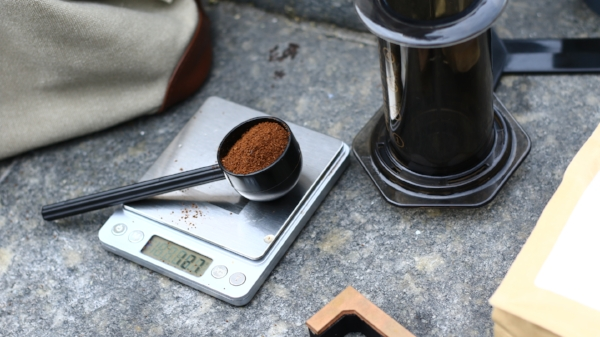 We took our trusty Rhinowares Hand Grinder and the Aeropress so we wouldn't be without coffee as we walked the streets of Milan. ;)