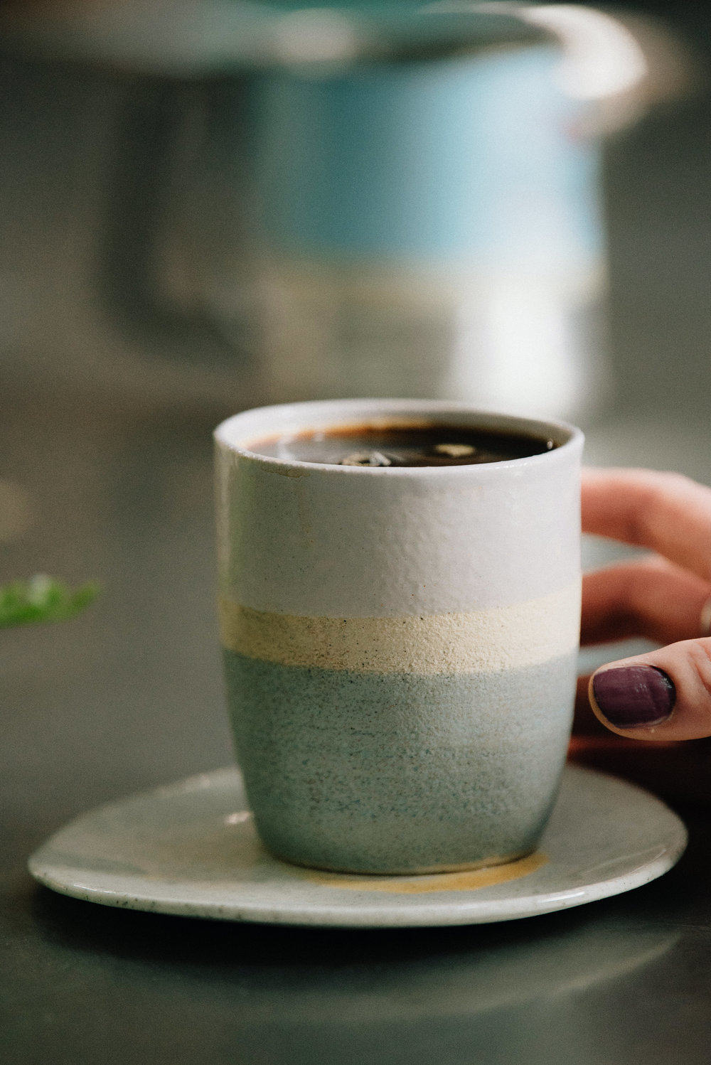 One of Eva's gorgeous stoneware vessels... (p hoto by  Adventurely    Photography.)