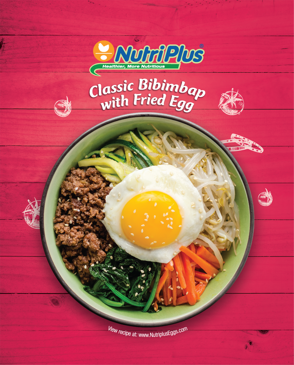CLASSIC BIBIMBAP WITH FRIED EGG
