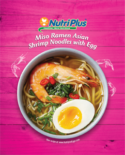 Miso Ramen Asian Shrimp Noodles With Egg