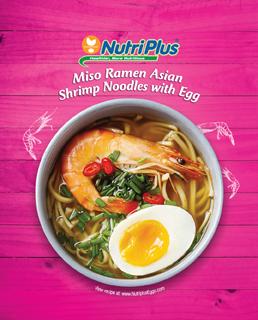 Miso Ramen Asian Shrimp Noodles With Egg
