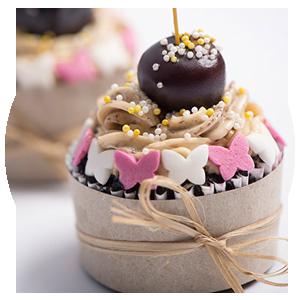 Coffee Cupcake with Italian Meringue