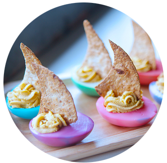 Sailing Deviled Eggs