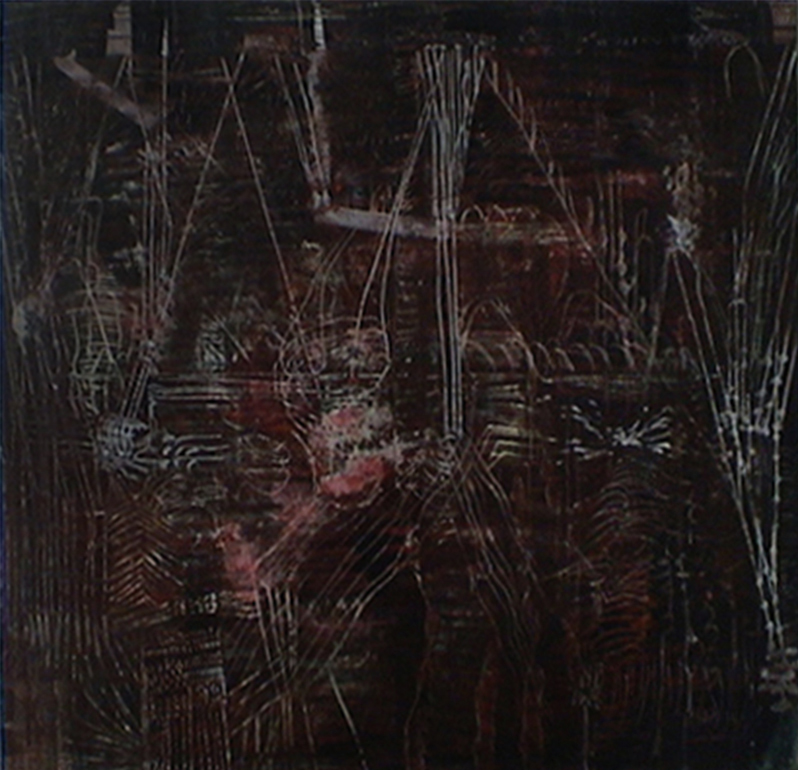 Actual Postitions Tina Douglas | 1675 x 2000 mm | Egg tempera on canvas | Place Gallery, Melbourne | 2004 | Private Collection