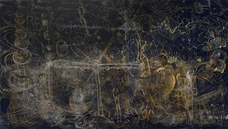 Hubble | Tina Douglas | 213 x 122 cm | Egg Tempera on canvas | 2000 | Pinacotheca Gallery, Melbourne | 2000 | Private Collection