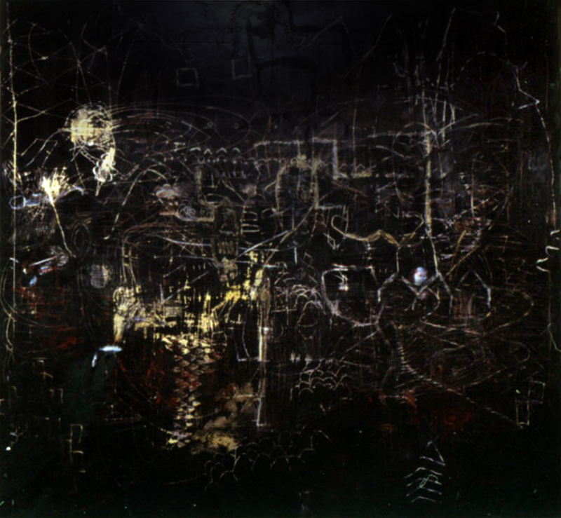 Are | Tina Douglas  | 210 x 222cm | Egg Tempera and liquid paper on canvas | Pinacotheca Gallery, Melbourne | 1998 | Private Collection