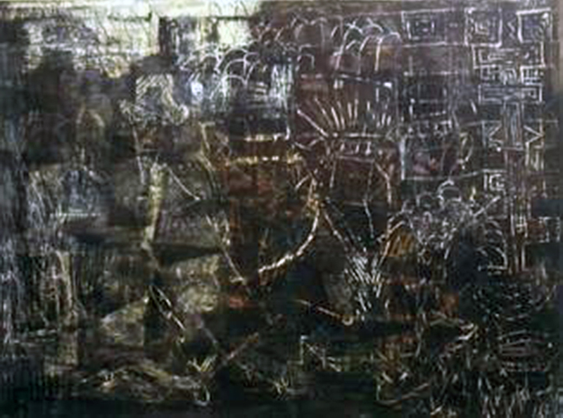 True False | Tina Douglas  | Oil paint and egg tempera on canvas | 150 x 180cm | Pinacotheca Gallery, Melbourne  | 1998