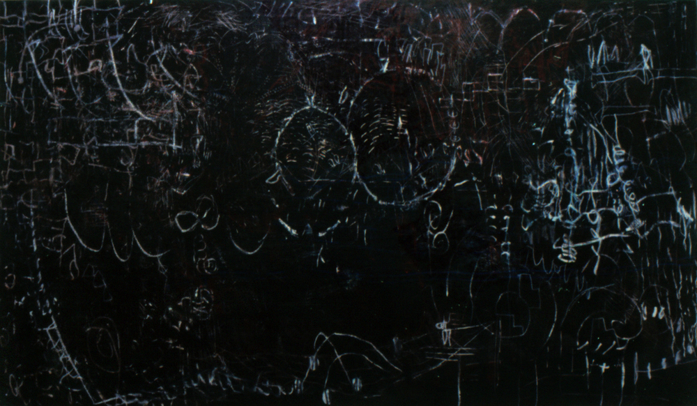 Of | Tina Douglas | Oil stick and oil paint and egg tempera on canvas | 2000mm x 1200mm | 1998 | Pinacotheca Gallery, Melbourne | Private Collection
