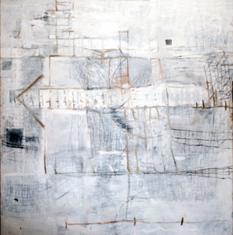 Are | Tina Douglas |  200 x 210cm | Acrylic and collage on canvas | 1993 | Pinacotheca Gallery, Melbourne | 1995
