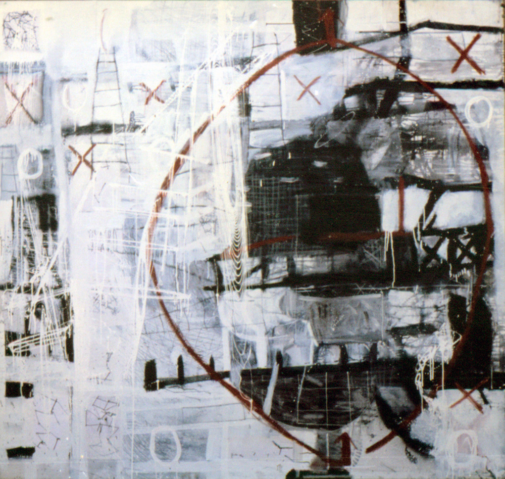 Is | Tina Douglas | Enamel, acrylic and oil stick on canvas | 200cm x 210cm | 1993