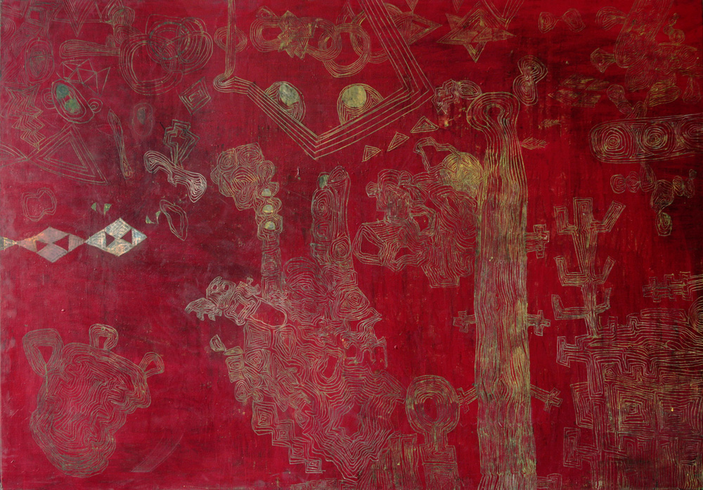 Time Map Approximately | Tina Douglas | Egg tempera on linen | 2100 x 1450 mm | Place Gallery, Melbourne | 2011