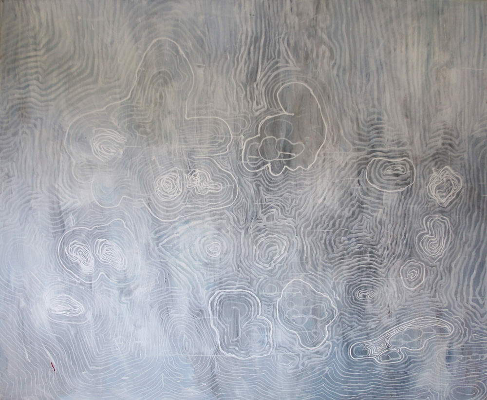 Time Map Ghost Tina Douglas | Egg tempera on linen | 1800 x 1500 mm | Place Gallery, Melbourne | 2011