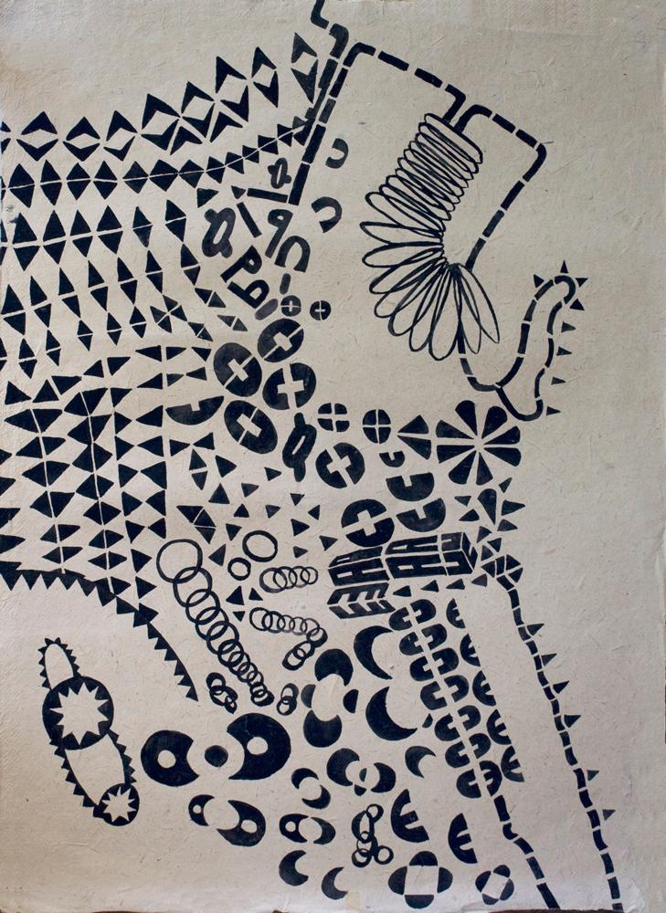 Path-Map | Tina Douglas | Gouache on fibre paper | 75 x 54.5cm | Works on paper | Place Gallery Melbourne | 2009