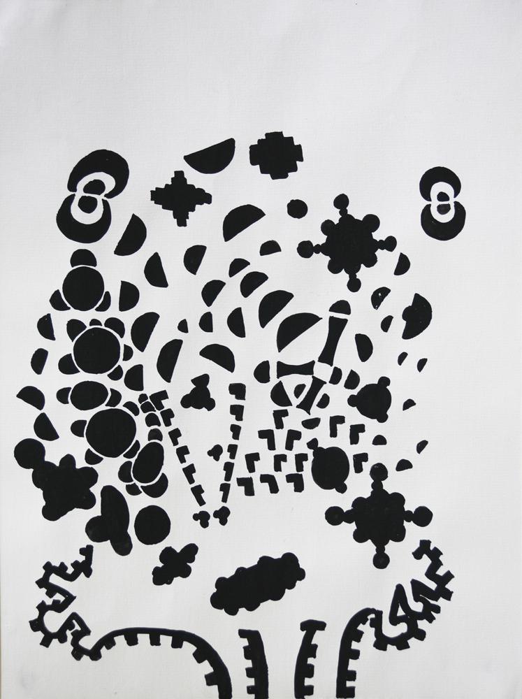 X-Map | Gouache on Arches paper | 32cm x 24cm | Place Gallery. Melbourne | 2010