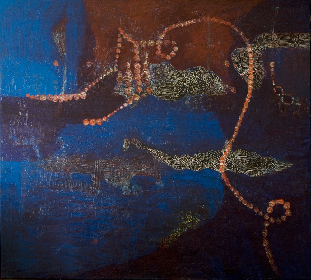As-Map | Tina Douglas | 1800 x 2000 mm | Egg tempera on linen | 2009 | Place Gallery, Melbourne | 2009 | Private Collection