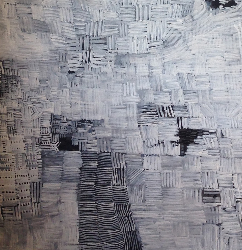 (detail) &bot, Tempera on linen 183 x 183cm  2014