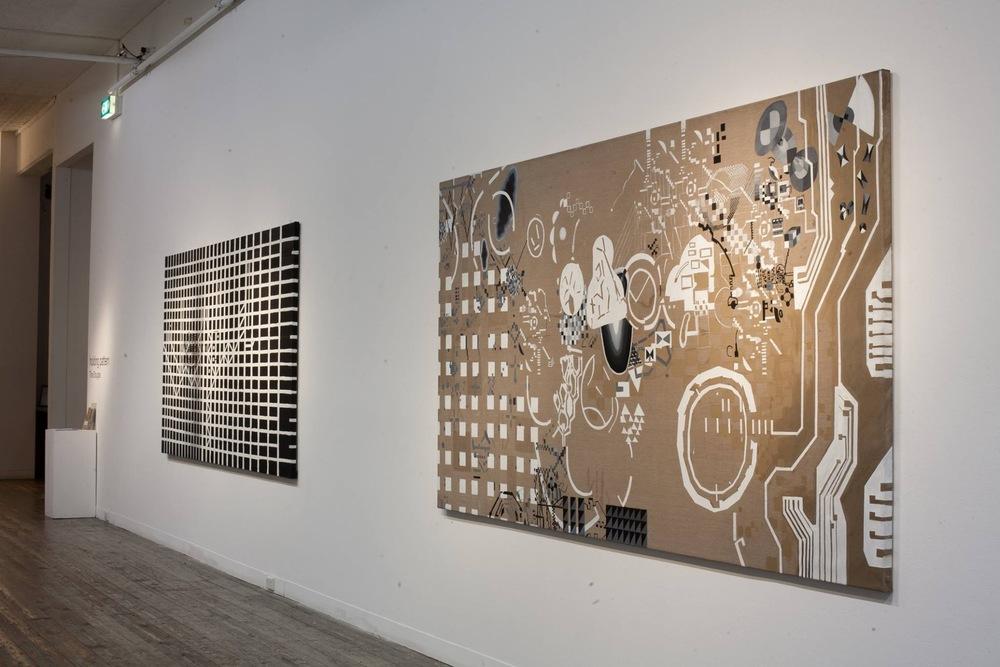 (installation view) Tina Douglas, holding pattern, 2016