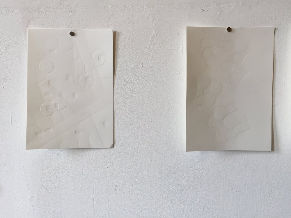 2016, fingernail burnishing on acid free paper, each 28 x 21 cm, unframed