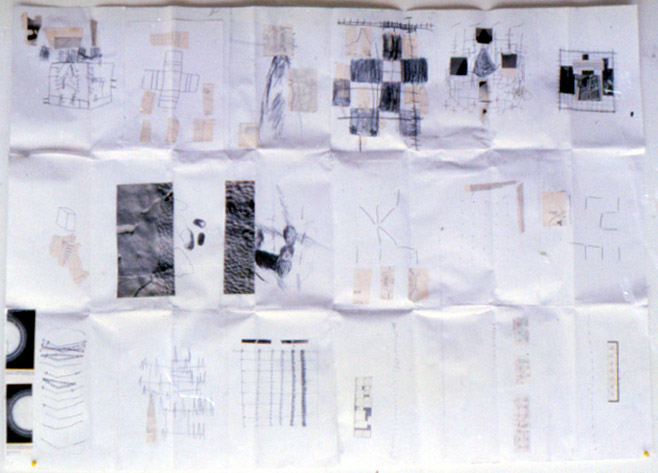 Tina Douglas | graph1 | 60 x 110 cm | Collage, graphite on paper | 1993