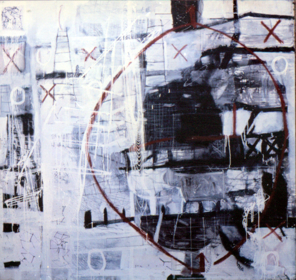 Tina Douglas | Is |Tina Douglas | Enamel, acrylic and oil stick on canvas | 200cm x 210cm | 1993