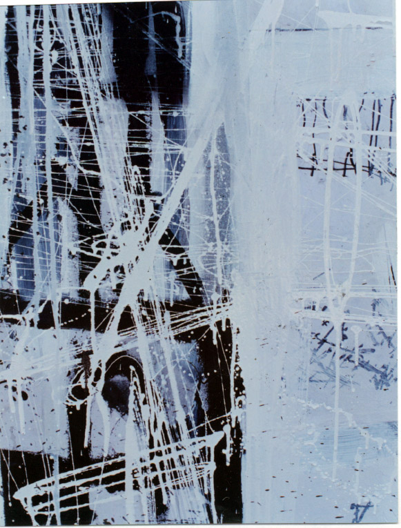 Tina Douglas | Is (detail) |  Enamel, acrylic and oil stick on canvas | 200cm x 210cm | 1993
