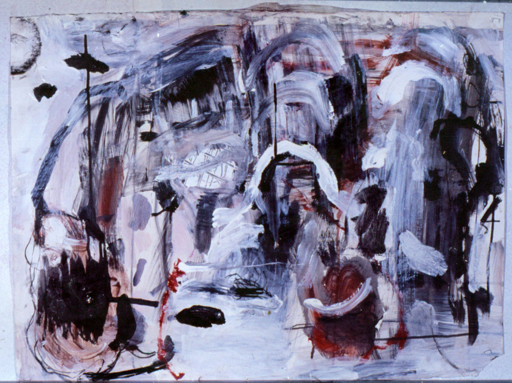 Tina Douglas | untitled | 60 x 90 cm | Acrylic, ink and pastel on paper | 1992
