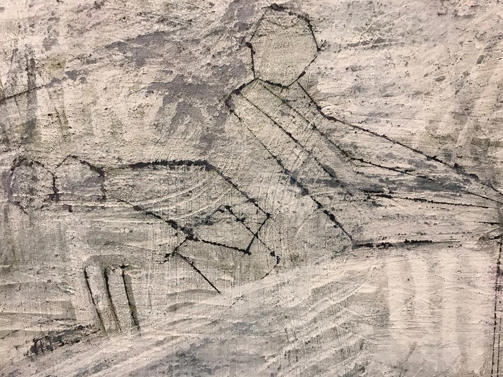explaination (detail) 2014 - 2017 | Egg tempera on linen | 200 x 260 cm