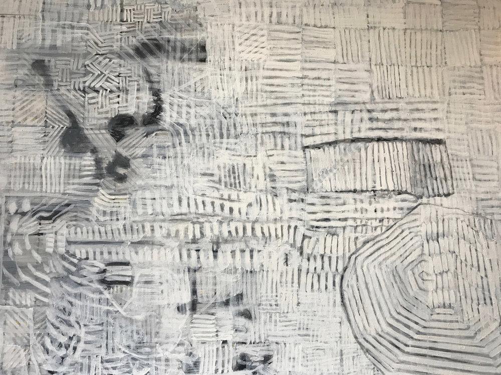 screen dump 2 (detail) 2014 - 2017 | Egg tempera on linen | 183 x 183 cm