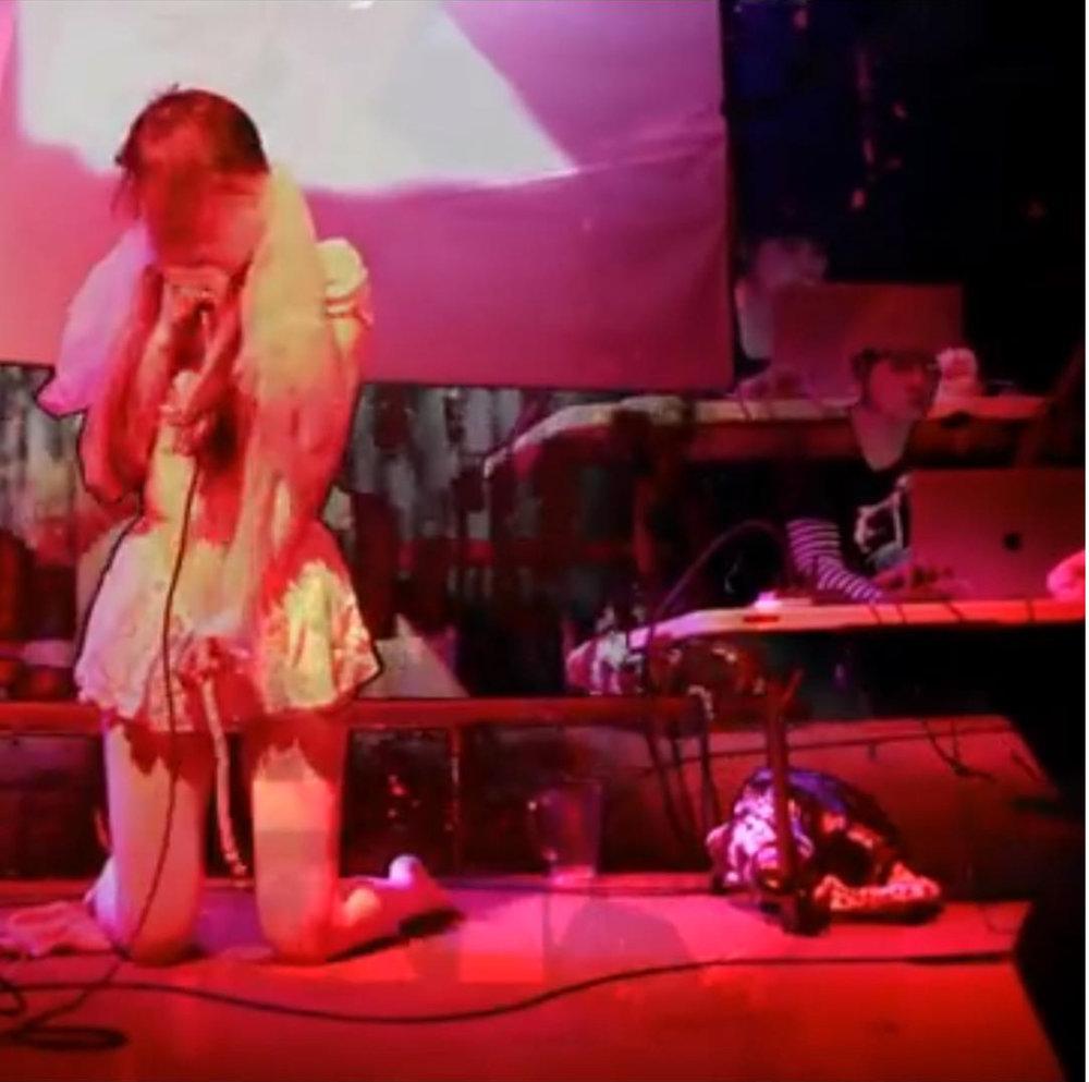 Tina Douglas (Electronics, Objects, Conductive Paint) & Yuka Mikayama (Voice, objects), Make It Up Club 2017