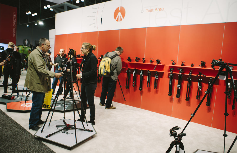 Manfrotto booth on the expo floor