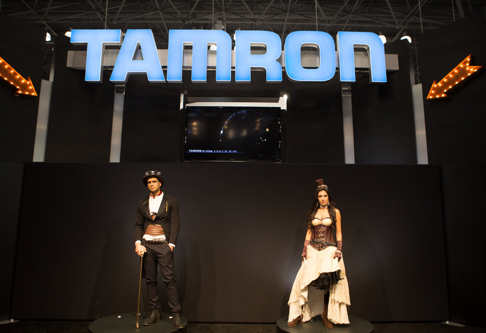 Tamron station on expo floor