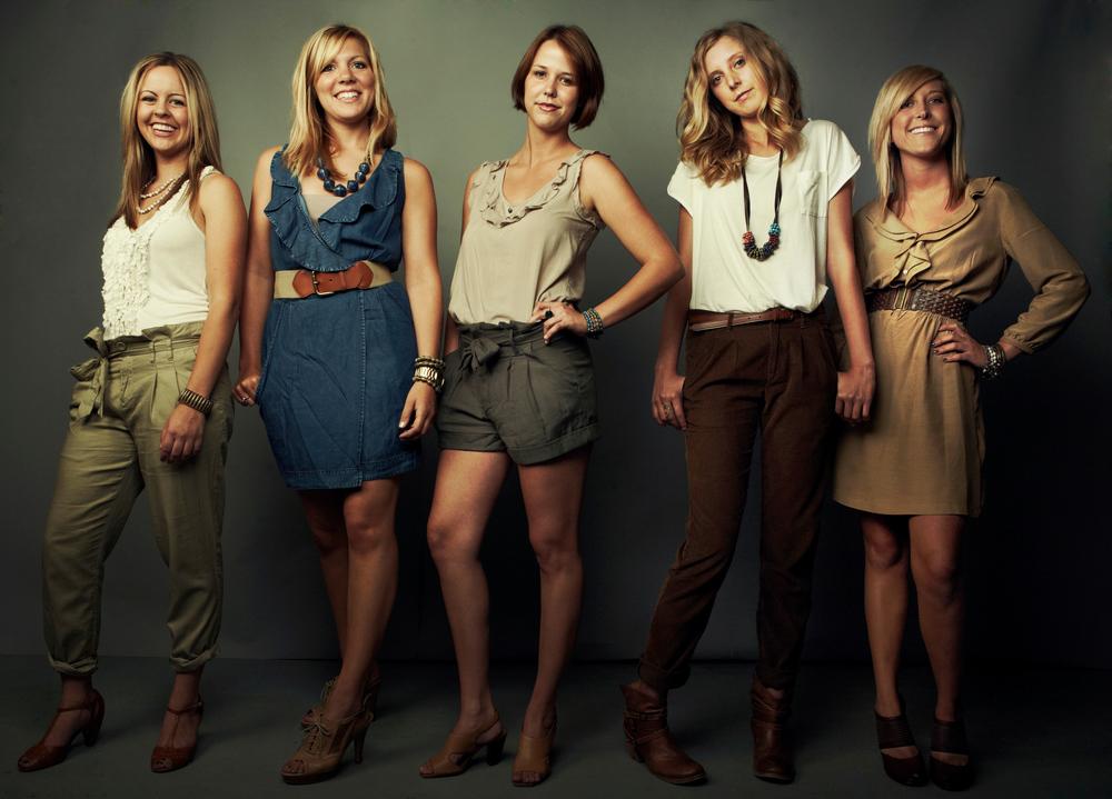 Left-Right: Jessie Simonson, Kallie Dovel, Anna Nelson, Brooke Hodges, Alli Swanson