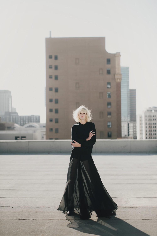 Skirt: Jean Fares /Sweatshirt: Les Benjamins /Boots: Pour La Victoire /Socks: HUE /Rings: Delphine-Charlotte Parmentier