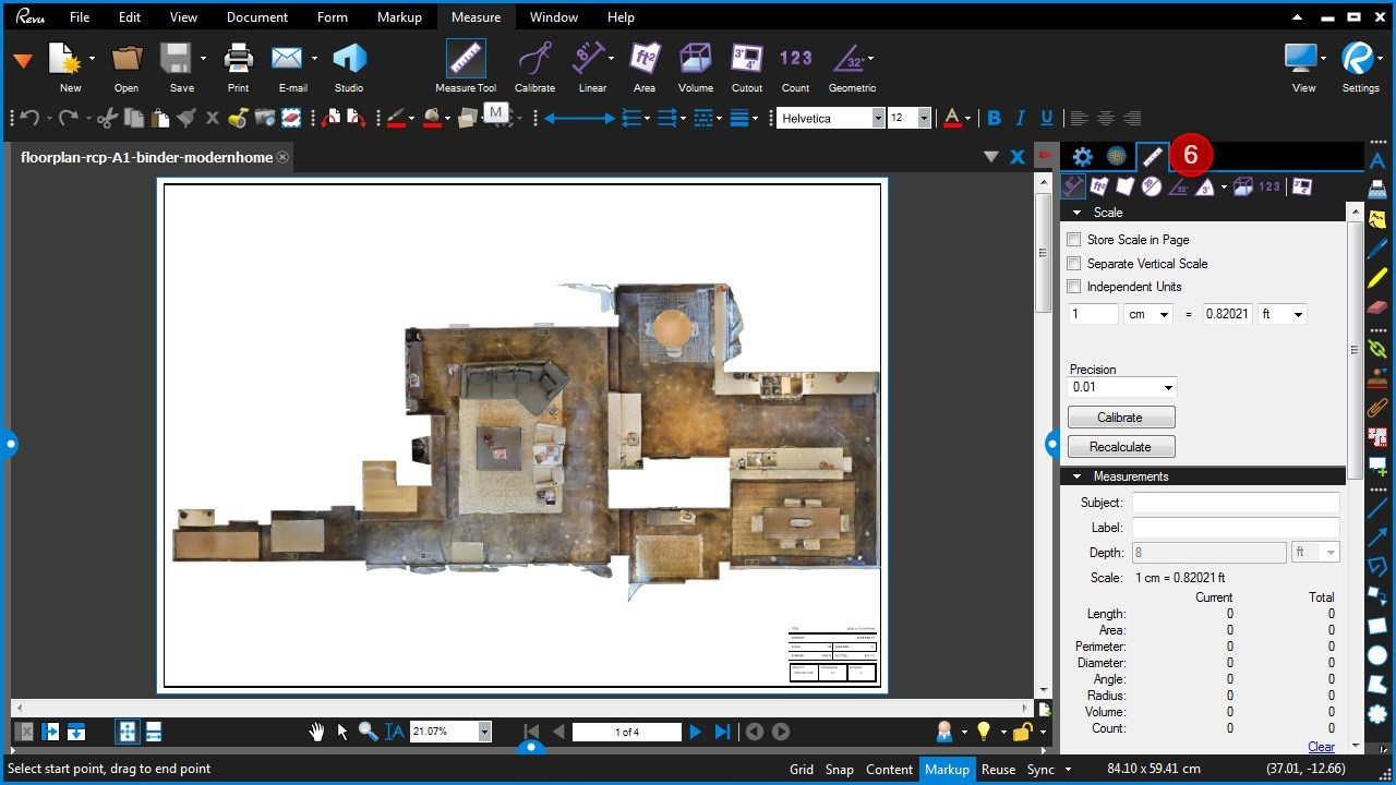 Measure and scale PDF floor plans using Bluebeam — Veriscian
