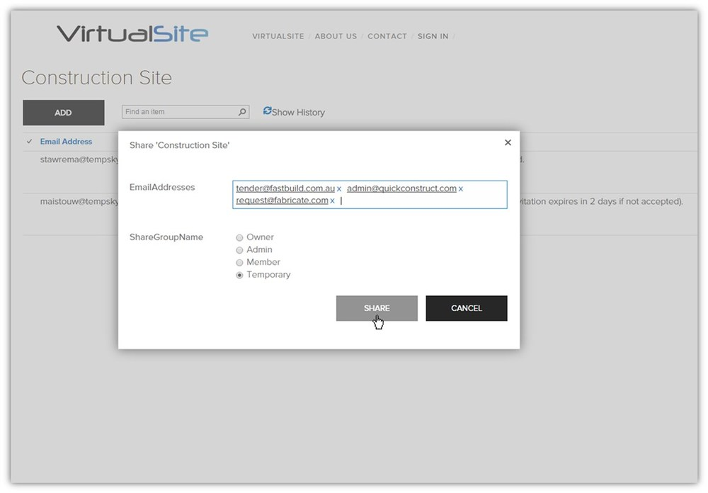 Cloud based for easy sharing and collaboration with partner office. See  VirtualSite  for details