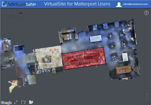 VirtualSite for Matterport users: use smart measure tools from the interactive viewer. See  for Matterport users  for more details.