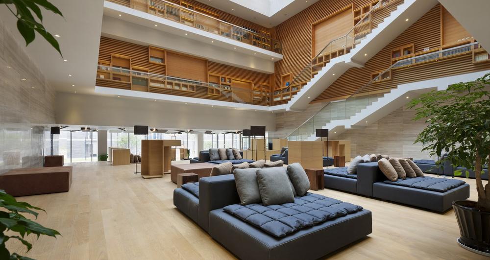 The library atrium
