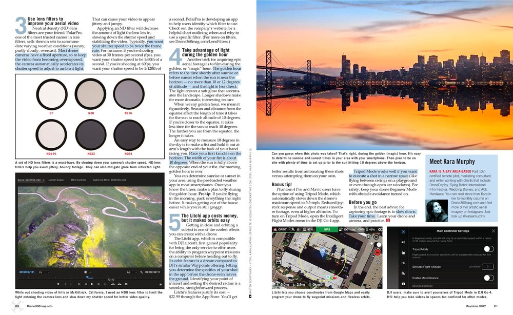 This article appeared in the June/July issue of  Drone360 Magazine .
