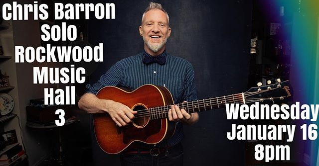 Oh, hey. Come see me play! Wednesday, Jan 16, 8:30, Rockwood 3! . . . . . . . #soloacoustic #guitarplayer #fingerpicking #chrisbarron #spindoctors #livemusic #nyc #nyclive #eastvillagenyc