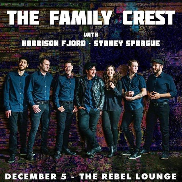Dec 5th at @therebelphx w/ @thefamilycrest and @sydneysprague. See you there! We wont be playing many shows in the coming months cause of recording so please do make it out!