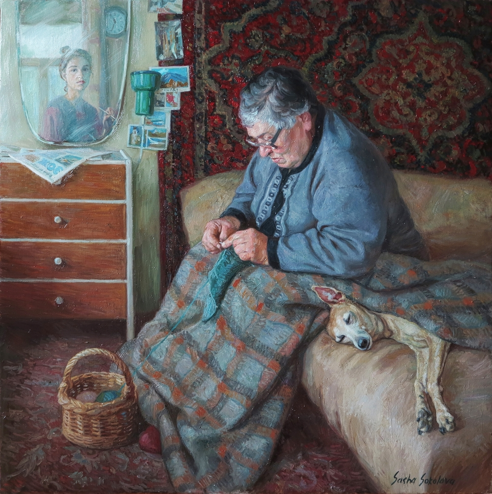 Self-portrait with grandma