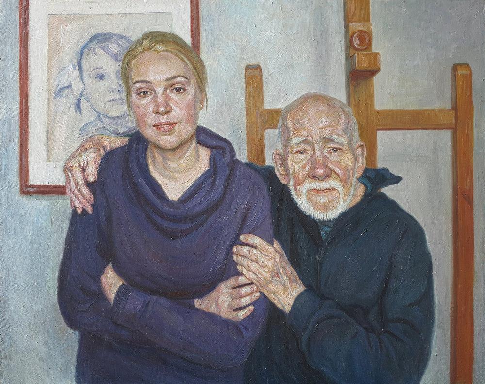 Portrait of my mum and grandpa